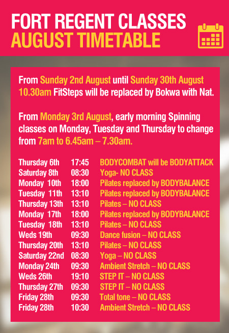 Class -Timetable -August -2015