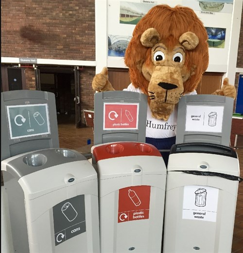Humfrey And Recycling Bins