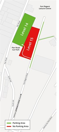 Fort Regent Parking Map (18/19 October 2018)