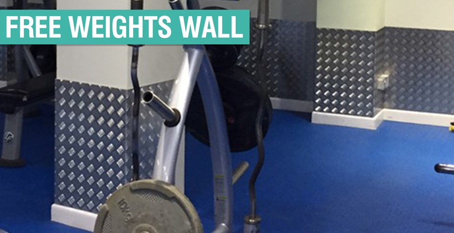 Free Weights Wall Header